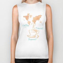 Coffee, Travel, Repeat Biker Tank