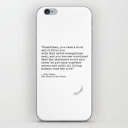 Quote 2 iPhone Skin