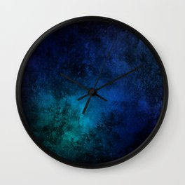 Late Night Watercolor Wall Clock