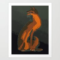the hound Art Prints featuring Hound by KeArra F.