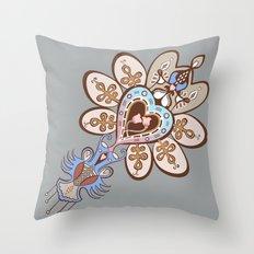 Flowering Heart Throw Pillow