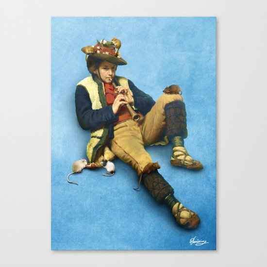 The Piper of Hamelin Canvas Print