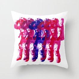 Astronaut Salute Throw Pillow
