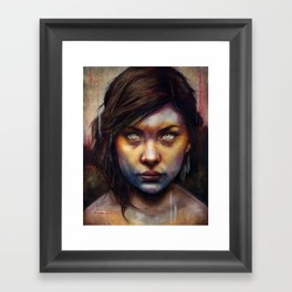 Una Framed Art Print