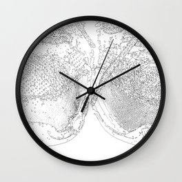 sand and laces drawing Wall Clock