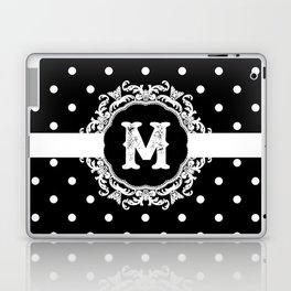 Black Monogram: Letter M Laptop & iPad Skin