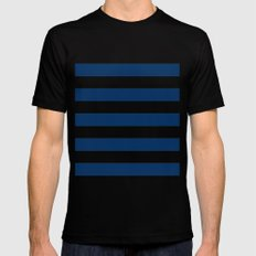 Nautical Stripes Mens Fitted Tee MEDIUM Black