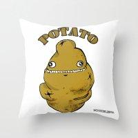 potato Throw Pillows featuring POTATO  by Michelena