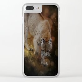 A Mountain lion's decent Clear iPhone Case