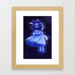 Ghost Girl (#Drawlloween2016 Series) Framed Art Print