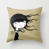 wind Throw Pillows featuring Wind by Volkan Dalyan