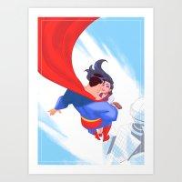 Lois&Clark Art Print