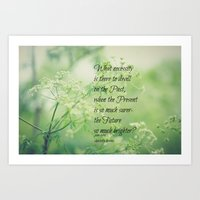 jane eyre Art Prints featuring Present and Future Jane Eyre Quote by KimberosePhotography