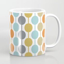Retro Circles Mid Century Modern Background Coffee Mug