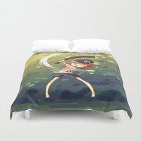 baseball Duvet Covers featuring Baseball by Freeminds
