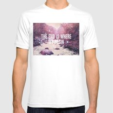 The End Is Where We Begin Mens Fitted Tee White MEDIUM