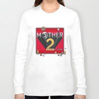 earthbound Long Sleeve T-shirts featuring Alternative Mother 2 / Earthbound Title Screen by Studio Momo╰༼ ಠ益ಠ ༽