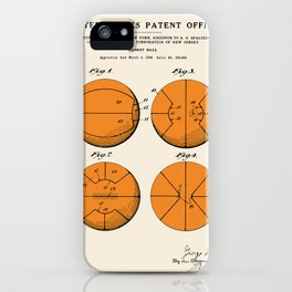 Basketball Patent iPhone Case