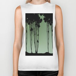 Forest Silhouette by Seasons K Designs Biker Tank