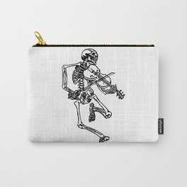 Skeleton Playing Violin Carry-All Pouch