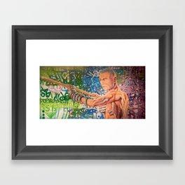 Stop Biting 3 Framed Art Print