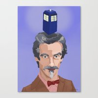 dr who Canvas Prints featuring Dr Who  by Kervin