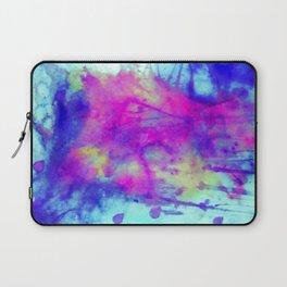 electric blue tie dye Laptop Sleeve