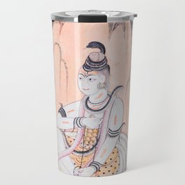 Princess with Snakes in a Wilderness - Vintage Indian Art Print Travel Mug