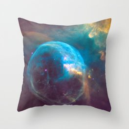 Nebula - Science Rules! Throw Pillow