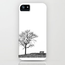 Bench Beneath Tree iPhone Case