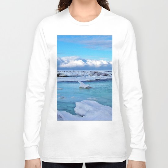 Frozen, and clouds on the Horizon Long Sleeve T-shirt