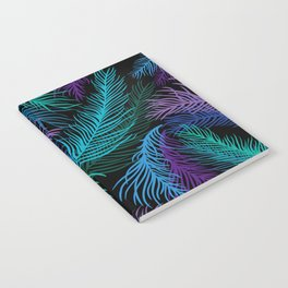 Multicolored palm leaves Notebook