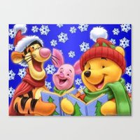 pooh Canvas Prints featuring pooh 2 by Just Be Love