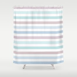 Striped pattern in pastel colours 1 Shower Curtain