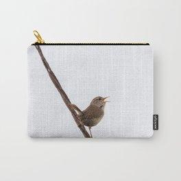 Wren Songbird Bird on Rusty Wire (Troglodytes) Carry-All Pouch