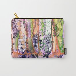 Peacock Plumes Carry-All Pouch