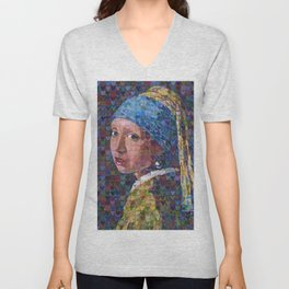 """I """"Heart"""" Girl With A Pearl Earring Unisex V-Neck"""
