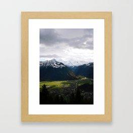 Paradise Mountains Framed Art Print