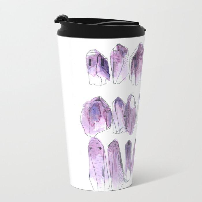 Amethyst - February Metal Travel Mug