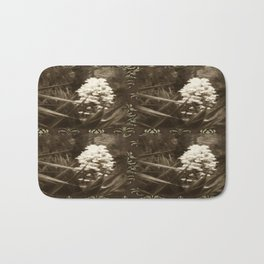 Pride 1 Antiqued 2x2 Brown Damask Bath Mat