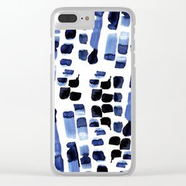 Blue Swatches Clear iPhone Case