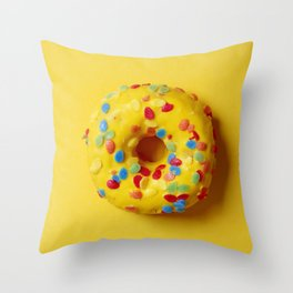Colorful Donut Throw Pillow