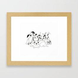 Bunch of Bunnies Framed Art Print