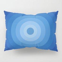 Blue Retro Bullseye Pillow Sham
