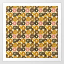 Donuts pattern Art Print