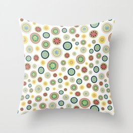 BP 50 Wheels Throw Pillow