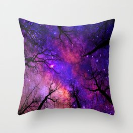 Spacey Forest Throw Pillow