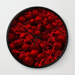 cherries pattern reacdr Wall Clock