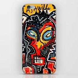 Art as a will to live Graffiti Street Art iPhone Skin