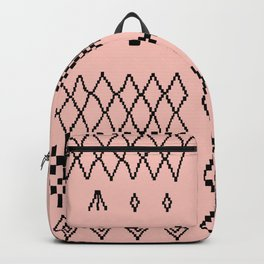Moroccan Patchwork in Pink Backpack
